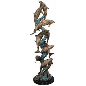 Twelve Dolphins on Marble (SpPat)