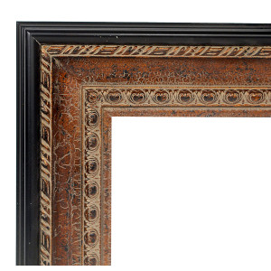 Copper Black Sizzle Frame 36X36 Crackle
