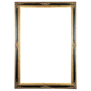 Mini Grand Victorian Frame 12X24 Antique Gold with Black