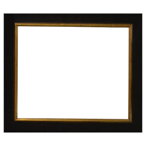 American Primative Frame 12X24 Black Crackle Burnished Gold