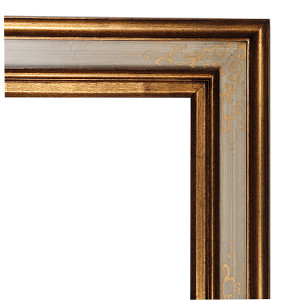 Nali Frame 12X16 Ecru with Gold Scrolls