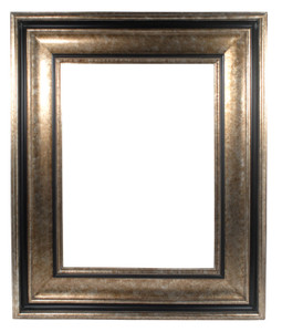 Dramatic Frame 48X60 Tarnished Silver with Black