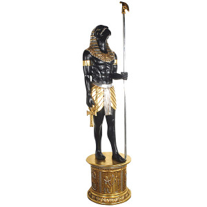 "98""H Horus Statue Egypt 6Ft With Base Novelty Collectable Decor"