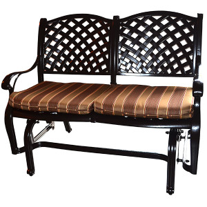Brentwood Outdoor Aluminum Bench Glider