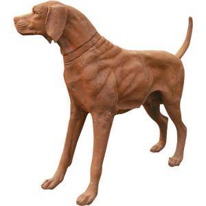 Antiqued Iron Hound Dog