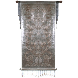 Silver Scroll Leather Tapestry