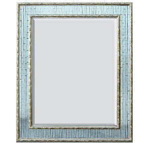 Silver Facet Mirror