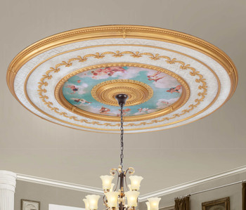 Neoclassical Grand Ceiling Medallion 98 Inch Round
