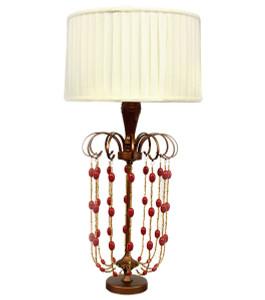 Crimson Cabochon Lamp