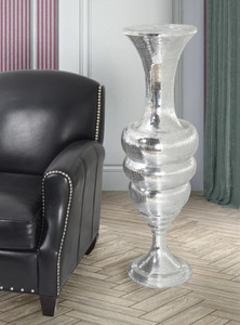 Silver Brilliance Tall Vase