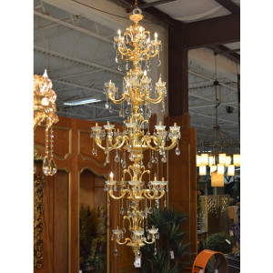 Alonzo Brushed Gold Chandelier