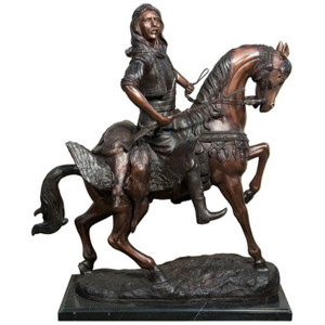 Arabian on Horseback -Marble Base