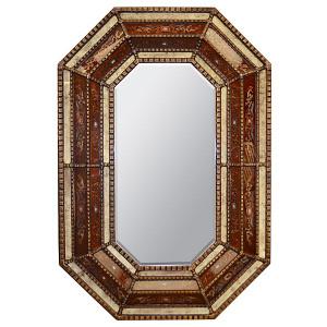 Peruvian Reverse Octagonal Mirror