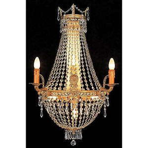 Gilt Crystal Chandelier Sconce