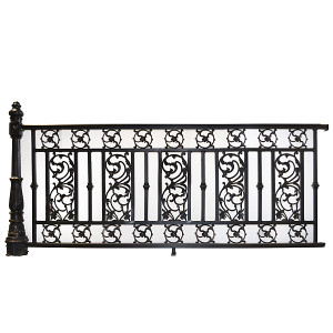 91in Aluminum Railing Fence with Post by Bridgeton Moore