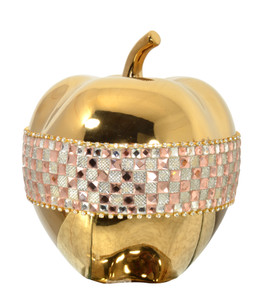 Rose Crystal and  Gold Apple
