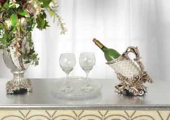 Silver Pearl Wine Holder