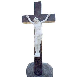 Jesus Crucifixion Marble Statue - Handcarved Marble - Religious Marble Sculptures