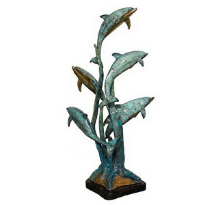 5 Dolphins On Marble Base -SpcPat