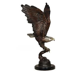 Eagle w/Fish on Marble Base