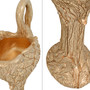 Golden Drizzle Swan Vase