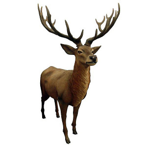 Red Stag Deer LifeSize Statue Majestic Animal Sculpture