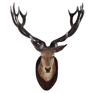 6 Deer Head Wall Mounted Novelty Collectable Decor