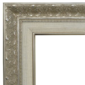 Focal Point Frame 48X60 Silver with Linen Liner
