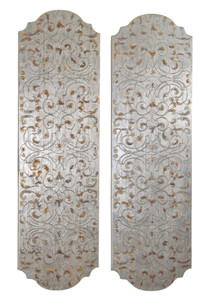 Silver Scroll Wall Art  Set of 2