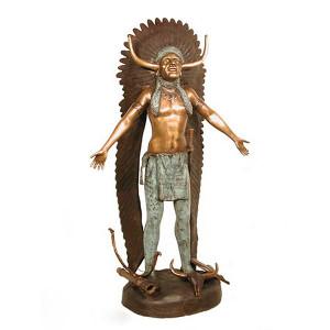 Indian in Headdress