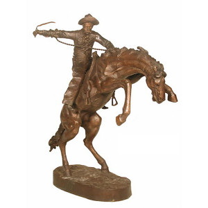 Bronco Buster on Marble Base