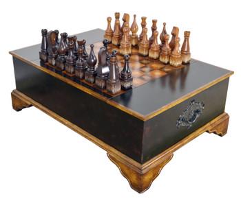 Ebony Chess Set Coffee Table