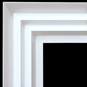 Modern Wave Frame 12X16 White