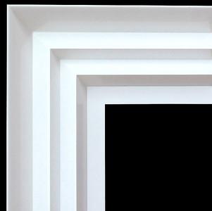 Modern Wave Frame 36X36 White