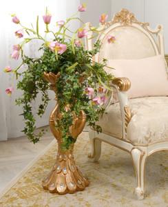 Copper Drizzle Peacock Vase