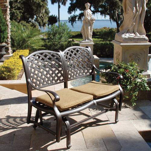 ... Savannah Outdoor Aluminum Bench Glider. Image 1 - Savannah Outdoor Aluminum Bench Glider - World Of Decor