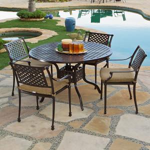 Savannah 5pc Round Dining Set Outdoor Patio Furniture