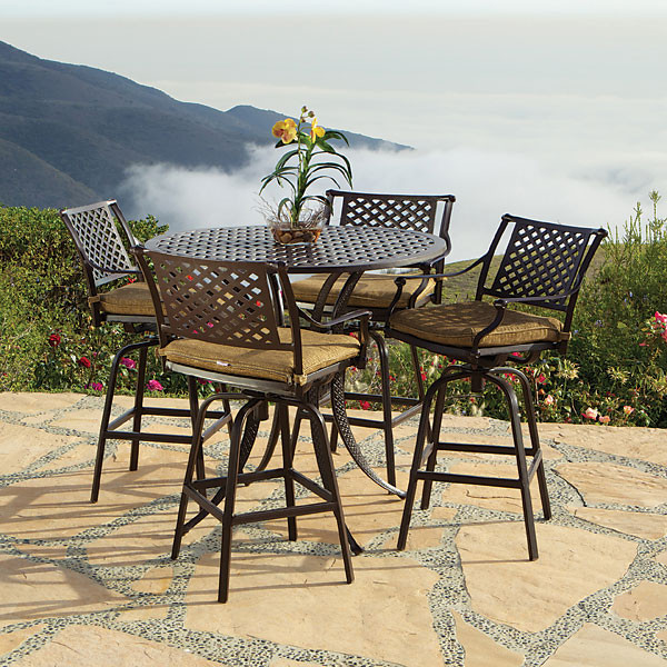 Stupendous Savannah 5Pc Bar Table Set W Barstools Outdoor Patio Furniture Home Interior And Landscaping Ologienasavecom