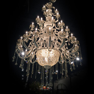 Hollywood Brush Silver Chandelier 39 Light