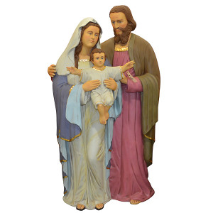"73""H Holiday Christmas Holy Family Standing Fiberglass Novelty Collectable Decor"