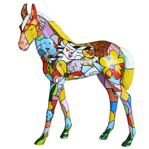 "52.5""H Pop Foal  Horse  Statue Novelty Collectable Decor"