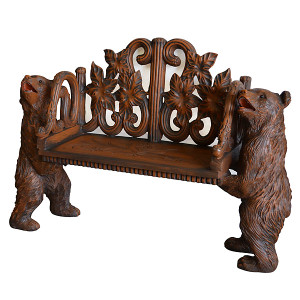 Two Bears Holding Bench