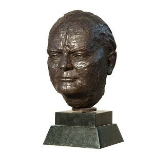 Churchill Bust on Marble Base