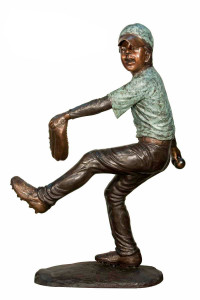 Baseball Player 1 - Bronze