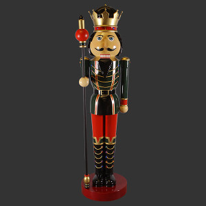 "144.5""H Nutcracker Christmas Right 12F Fiberglass Novelty Collectable Decor"