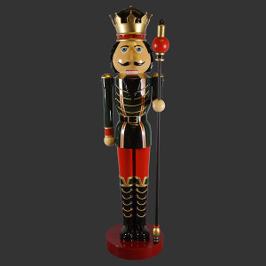 "144.5""H Nutcracker Christmas Left  12F Fiberglass Novelty Collectable Decor"