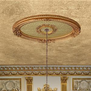 Golden Rocaille Oval Chandelier Ceiling Medallion