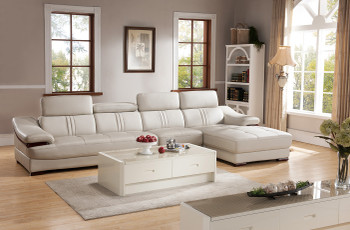 Gabrulaital Leather Sectional (KIT)