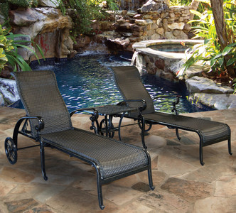 Wyndermere 3pc Chaise Lounge Set Outdoor Patio Furniture