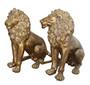 Burnished Lion Large     Set of 2